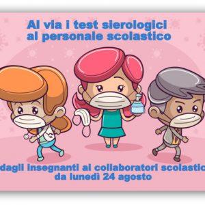 Al via i test sierologici al personale scolastico